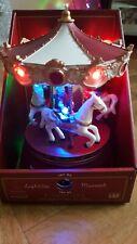 Rotating Christmas Carousel LED Decoration Animated Musical.