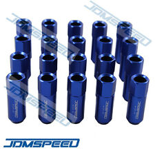 20 PCS M12X1.5MM BLUE OPEN END EXTENDED ALUMINUM TUNER RACING WHEEL LUG NUTS