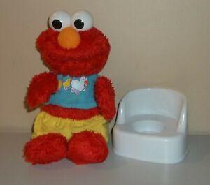 Sesame Street - Potty Time Elmo with Potty Chair - Hasbro - Works