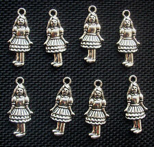8 Girl Charms Alice in Wonderland/Wizard of Oz 21mm