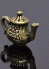 NEW.Bronze Tone Teapot Charm Pendant 16mmx12mm.Suit Necklace,Bracelet or Earings