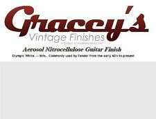 -Olympic White- Gracey's Vintage Finishes Nitrocellulose Guitar Lacquer Aerosol.