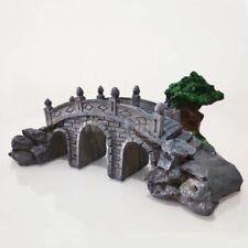 Aquarium Landscape Bridge Ornament Resin Rock Hiding Cave Fish Tank Decoration