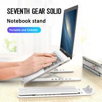 Adjustable Foldable Pro Aluminum Laptop Tablet Stand Portable Desktop Holder US^