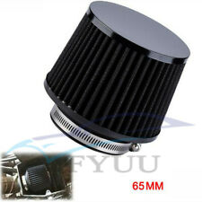 """2.5"""" High Quality Autos Motorcycle Mushroom Head Air Filter Black+Rubber Adapter"""