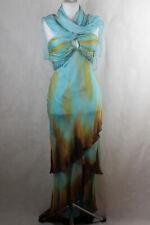 Unique 100% Seide Kleid mit Schal,festlich,Damen Gr.M (34/36),sehr guter Zustand