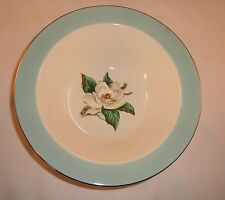 Lifetime China Turquoise White Magnolia Home Laughlin Vegetable Serving Bowl 9""