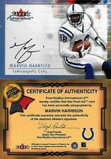 MARVIN HARRISON SIGNED FLEER AUTOGRAPHICS CERTIFIED AUTO CARD~2016 FOOTBALL HOF
