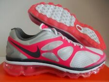WMNS NIKE AIR MAX + 2012 2014 2013 2009 WHITE-GREY-PINK FLASH SZ 10 [487679-160]