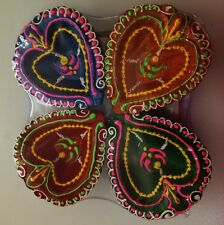 Clay Big Diya Deep for Diwali Designer Set of 4 Hindu Puja lamp USA Seller