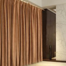 A Pair Blockout Curtains 2x210cmx220cm Drop.Camel Colour.