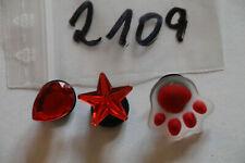 3 Pins für Clogs,Charm,Stecker,neu,#2109
