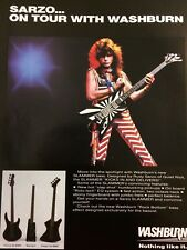 Quiet Riot, Rudy Sarzo, Washburn Guitars, Full Page Vintage Promotional Ad
