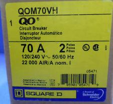 Square D Qom70Vh Circuit Breaker 70A 2P 120/240V 22000 Air Bolt On New