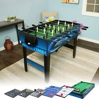 Sunnydaze 10-in-1 Multi-Game Table - Billiards Foosball Hockey Pool Air Hockey