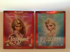 Frozen + tangled - 2 Walt disney [Blu-ray 3D + Blu-ray] with slip cover *NEW*