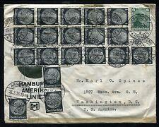 Germany Cover Hamburg Amerika Line mailed to USA 1936. x26210