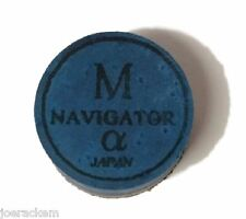 1 (one) Navigator Alpha (MEDIUM = M) Pool/Carom Cue Tip - 14mm - Free US Ship