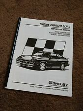 1987 Shelby Charger GLH-S 2.2L Turbo Service Manual Supplement Dodge GLHS