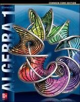 Algebra 1, Common Core Edition, McGraw Hill (MERRILL ALGEBRA 1)-Unused