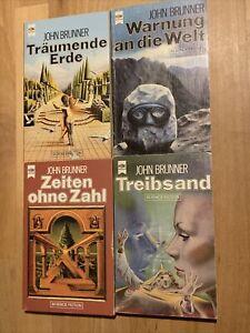 4x John Brunner, Heyne SF, Treibsand, Zeiten ohne Zahl, Träumende Erde, Warnung