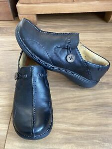 Clarks Unstructured Ladies Black Casual/Comfort Shoes Size UK 5E Wide Fit.