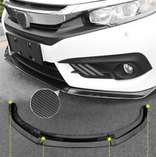 For Honda Civic 2016-2018 Carbon fiber Front Bumper cover Lip front spoiler 3PCS