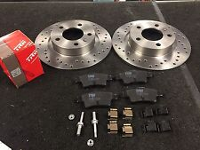 VAUXHALL CORSA VXR NURBURGRING REAR BRAKE DISC BRAKE PADS CROSS DRILLED GROOVED