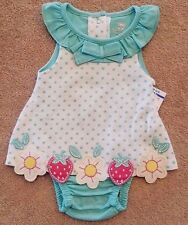 NEW! KOALA BABY NEWBORN POLKA DOT STRAWBERRY BUILT IN BLOOMERS DRESS ADORABLE