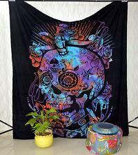 Psychedelic mandala Skull Wall Hanging Beach Towel Tapestry Home Decor Bedsheet
