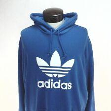 ADIDAS Originals Trefoil Hoodie Sweatshirt Washed Blue DT7965 Mens 2XL New