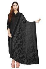 Women Girls Embroidered Chiffon Dupatta Tippet Scarf Traditional Wear