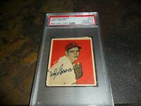 1949 BOWMAN Ned Garver St Louis Browns Signed AUTO 10 PSA DNA    ( CALJEFF )