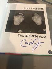 Cal Ripken Jr. signed 1ST Edition play baseball the Ripken Way BIG hologram COA