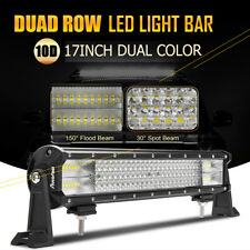 """1320W CREE 17inch Quad Rows LED Work Light Bar Spot Flood Combo For Jeep 18""""/20"""""""