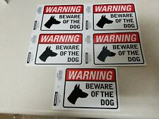 Beware of Dog  Warning Sign Bumper Sticker 5 Decals WS425
