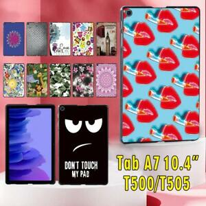 "UK Fits Samsung Galaxy Tab A7 10.4"" T500 T505 Slim Hard Shell Case Cover +stylus"
