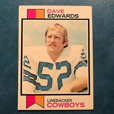 1973 Topps Set DAVE EDWARDS #369 DALLAS COWBOYS - EX-MINT *HIGH GRADE*
