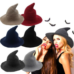 US Women Ladies Witch Wizard Hat Party Dress Up Cosplay Costume Party Decor Gift
