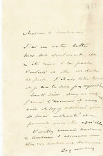 Musique Coquelin aîné comédien lettre autographe signée à Castries Beaumont