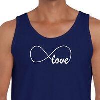 INFINITY LOVE Symbol Family Friends Tee Spouse Partner Forever Men's Tank Top