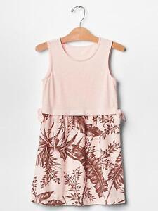 NWT GAP Kids Tropic Adventure Pink Knotted Palm Tree Knit Dress U Pick Size NEW