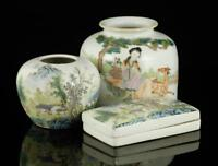 Three Pieces of Chinese Republic Period Porcelain Dishes.