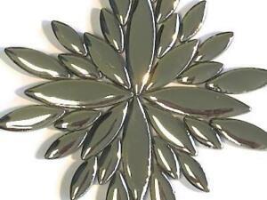 Assorted Silver Ceramic Petals - Mosaic Tiles Supplies Art Craft