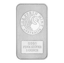 1oz Australian Perth Mint Silver Kangaroo Bar .9999 Fine