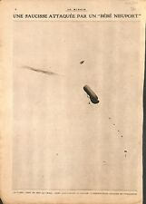Combat aérien ballon observation saucisse avion Nieuport 1916 WWI ILLUSTRATION