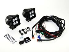 """KC LZR LED SERIES 3"""" CUBE SPOTLIGHT PAIR WITH HARNESS JEEP LAND ROVER SPOTLIGHTS"""