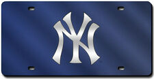 New York Yankees Navy Blue Laser-Cut License Plate [NEW] MLB Car Auto Frame CDG