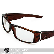 Clear Lens Biker Motorcycle Glasses Sunglasses Locs X Sports Brown Frame S021