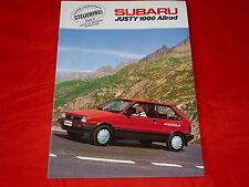 SUBARU Justy 1000 Allrad Prospekt von 1987